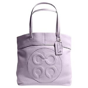 Coach Lilac Leather Julia Op Art Perry Tote